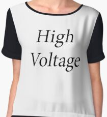 High Voltage Chiffon Top
