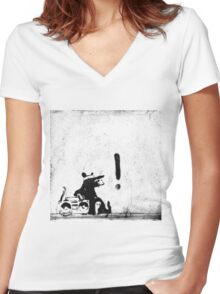 Rocking it old school Women's Fitted V-Neck T-Shirt