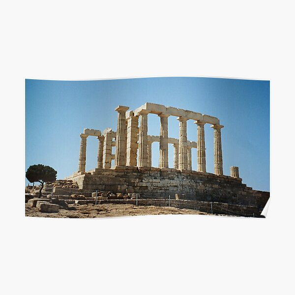 Temple of Poseidon - Greece Poster