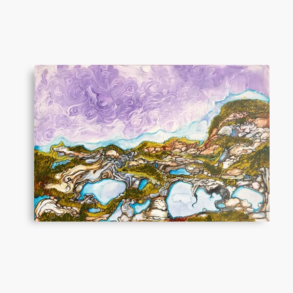 lanscape, original is hand painted and highly detailed Metal Print