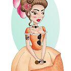 Metro&medio Designs - Rocktar Marie Antoinette Pin-up by metroymedio