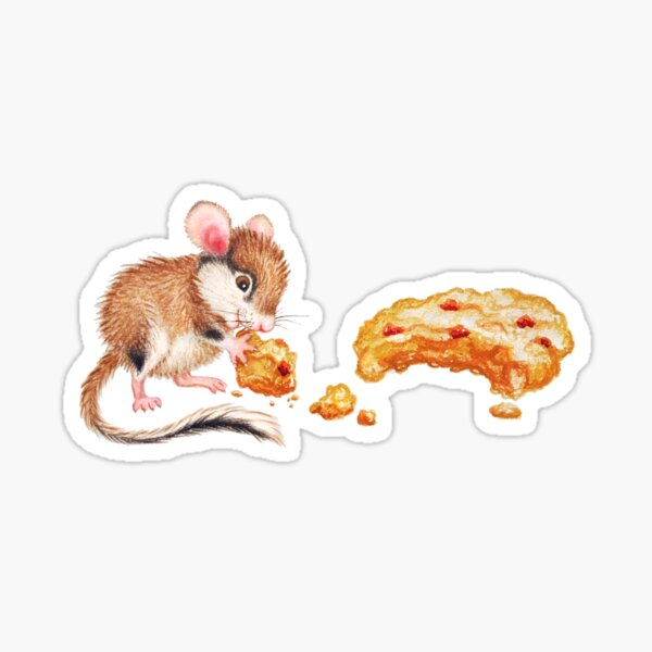 Cookie mouse by Maria Tiqwah Sticker