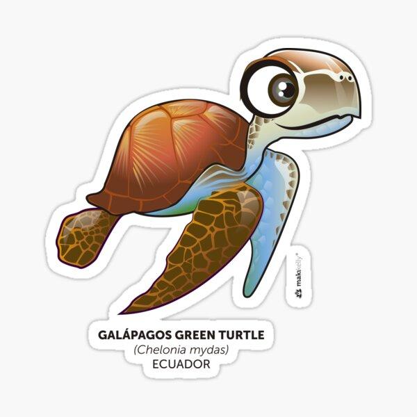 Galapagos Green Turtle Sticker