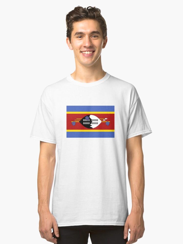 Swaziland Flag Kingdom of Eswatini Classic T-Shirt Front