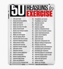 50 Reasons To Exercise iPad Case/Skin