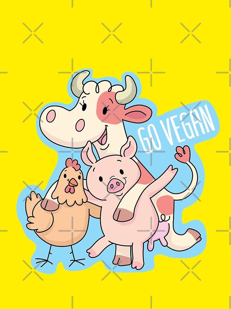 Go Vegan animals by duxpavlic