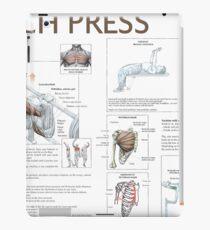 Bench Press - Exercise Diagram iPad Case/Skin