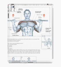 Military Press - Exercise Diagram iPad Case/Skin
