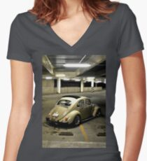 VW Night Women's Fitted V-Neck T-Shirt