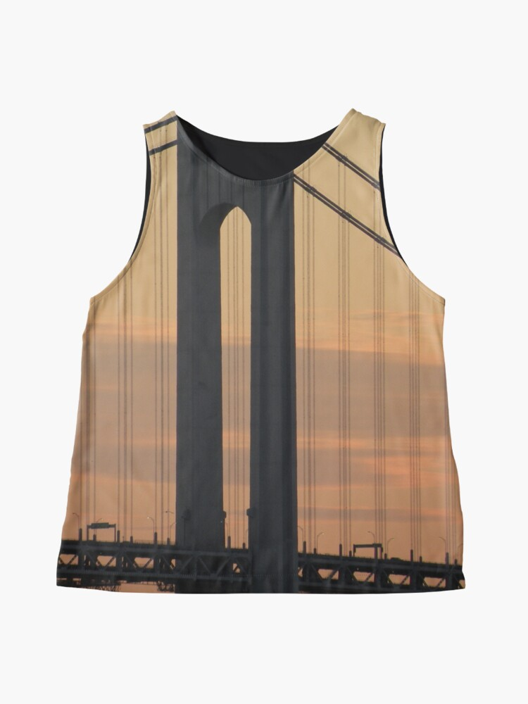 Alternate view of #bridge, #architecture, #water, #city, #usa, #california, #WerrazanoNarrowsBridge, #suspension, #river, #sky, #bay, #landmark Sleeveless Top
