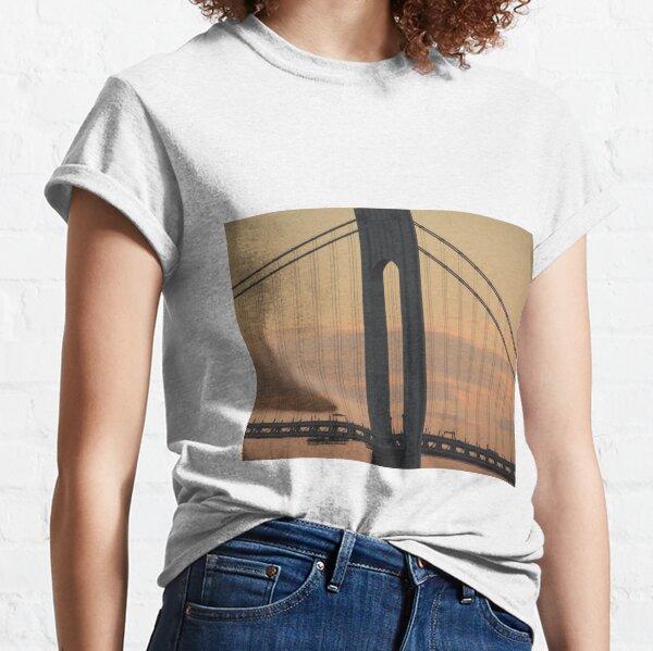 #bridge, #architecture, #water, #city, #usa, #california, #WerrazanoNarrowsBridge, #suspension, #river, #sky, #bay, #landmark Classic T-Shirt
