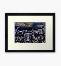Ruined Residential Building Belgrade Framed Print