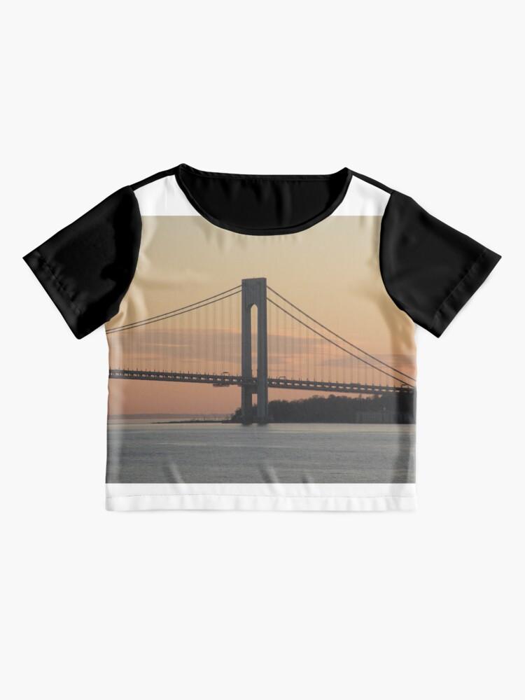 Alternate view of #bridge, #architecture, #water, #city, #usa, #california, #WerrazanoNarrowsBridge, #suspension, #river, #sky, #bay, #landmark Chiffon Top