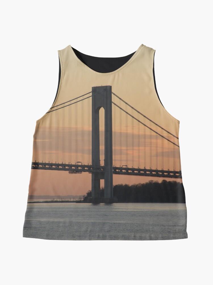 Alternate view of #bridge, #architecture, #water, #city, #usa, #california, #WerrazanoNarrowsBridge, #suspension, #river, #sky, #bay, #landmark Sleeveless Top