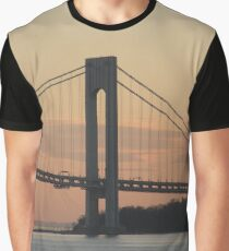 #bridge, #architecture, #water, #city, #usa, #california, #WerrazanoNarrowsBridge, #suspension, #river, #sky, #bay, #landmark Graphic T-Shirt