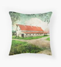 Tin Red Roof Throw Pillow