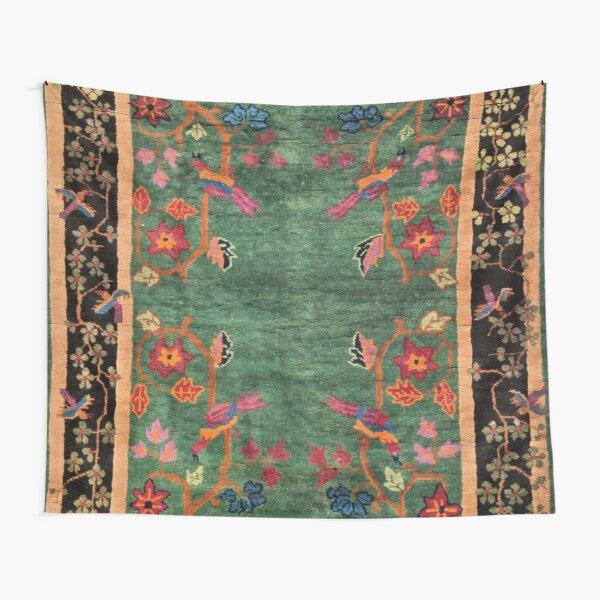 Vintage Art Deco Chinese Rug Print Tapestry