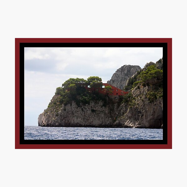 Capri, Italy - Living on the Edge Photographic Print