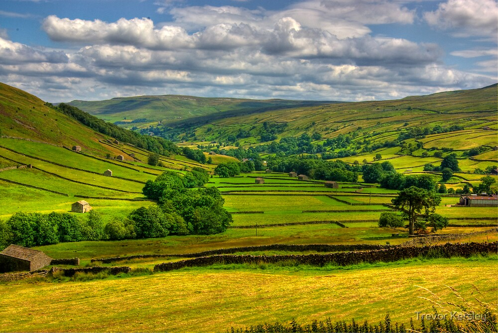 Looking Down The Dale. by Trevor Kersley
