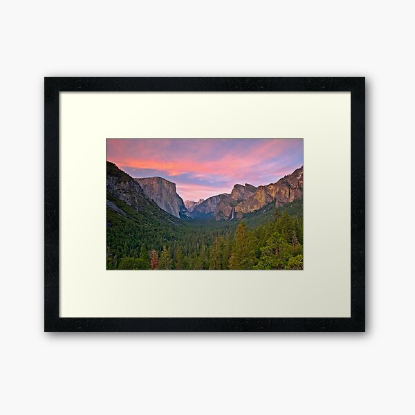 Yosemite Valley Spring Framed Art Print