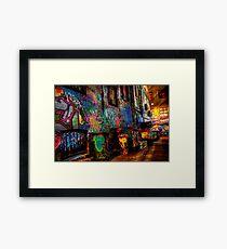 Laneway Moods 2. Framed Print