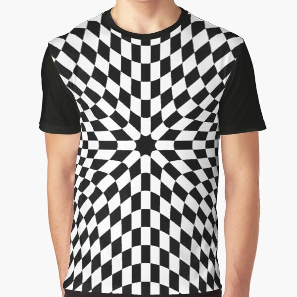Chess, #black, #white, #chess, #checkered, #pattern, #abstract, #flag, #board Graphic T-Shirt