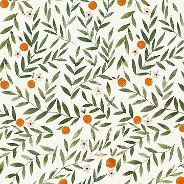 Oranges Foliage White by artiisan