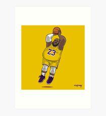 LeBrownie - icon jersey Art Print