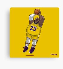 LeBrownie - icon jersey Canvas Print
