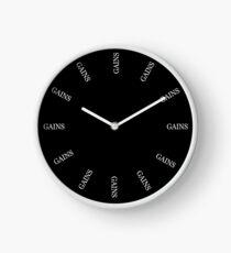 What Time Is It? Gains O'Clock. All The Time. Clock