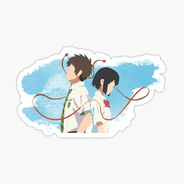 Your Name Minimalist (Taki and Mitsuha) Sticker