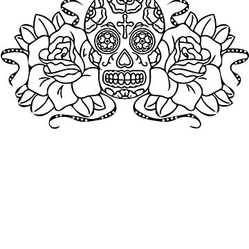 Day Of the Dead Skull Sugar Coloring T Shirt #7 by SmartAndPunny