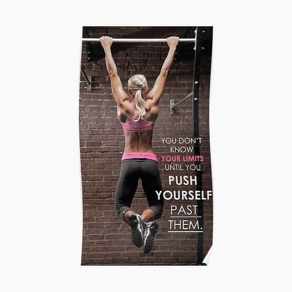 Women's Fitness Inspirational Quote and Saying Poster