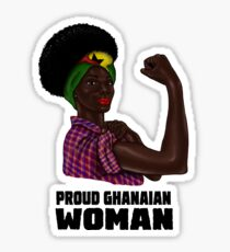 Proud Strong Ghanaian Woman Ghana Flag  Sticker