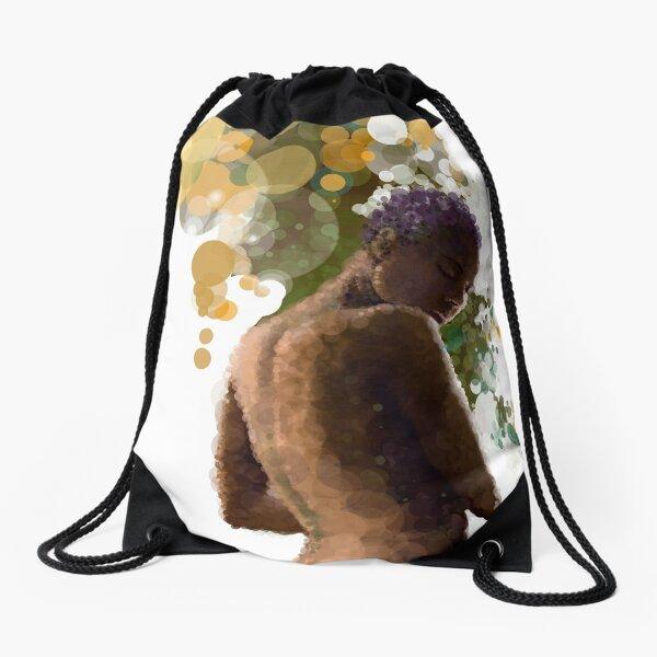 cellular automata Drawstring Bag