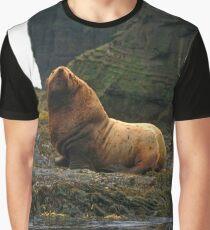 Stellar Sea Lion, Agattu Island, Near Islands, Aleutian Islands, Alaska Graphic T-Shirt