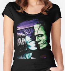 Bride & Frankie Monsters in Love Women's Fitted Scoop T-Shirt