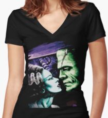 Bride & Frankie Monsters in Love Women's Fitted V-Neck T-Shirt