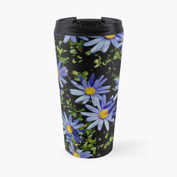 Sunbathing Blue Daisies Travel Mug