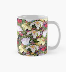 Flowers gone WILD! All kinds BLACK! Mug