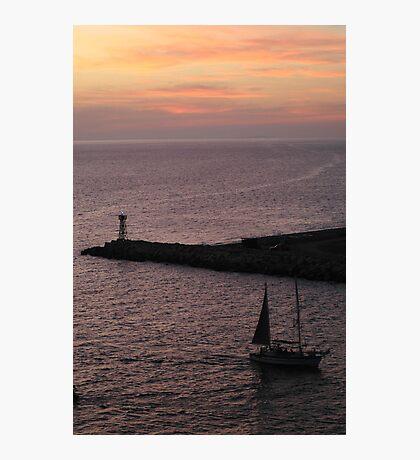 Sun sets over Puerto Vallarta Photographic Print