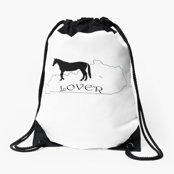 Kentucky Horse Lover Gifts Drawstring Bag