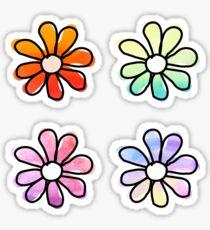 Pegatina Flores de acuarela - paquete de 4