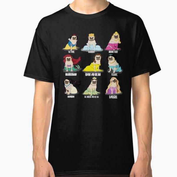 Pug Princesses Classic T-Shirt