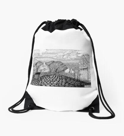 271 - STYLISED CREGNEASH VIEW - DAVE EDWARDS - INK - 2018 Drawstring Bag