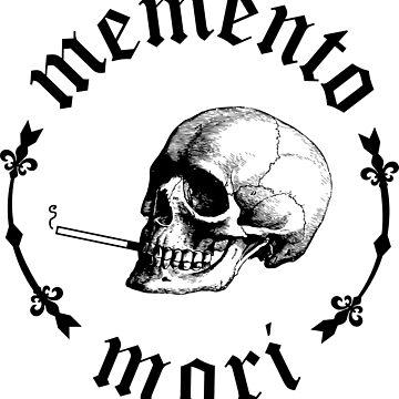 Memento Mori Smoking Skull by dmorissette