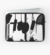 Kitchen Window Silhouette - White on Black or Color Laptop Sleeve