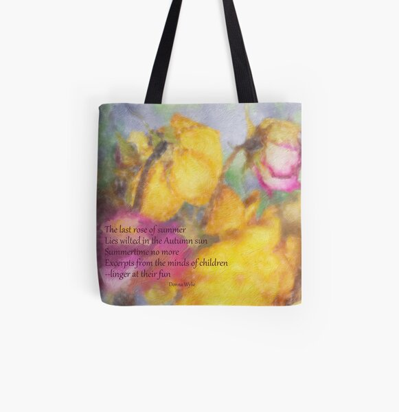The Last Rose of Summer All Over Print Tote Bag
