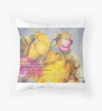 The Last Rose of Summer Floor Pillow