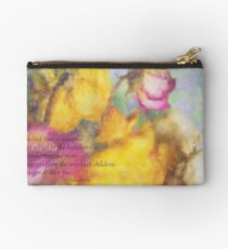The Last Rose of Summer Zipper Pouch